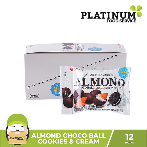 Almond Choco Ball Cookies & Cream 12packs