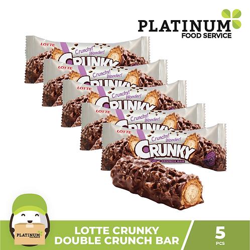 Lotte Crunky Double Crunch Bar 5pcs