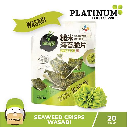 CJ Bibigo Seaweed Crips Wasabi 20g