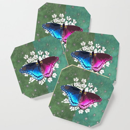 Retro Turquoise Butterfly Design