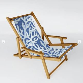 Blue Sea Coral Swing Chair