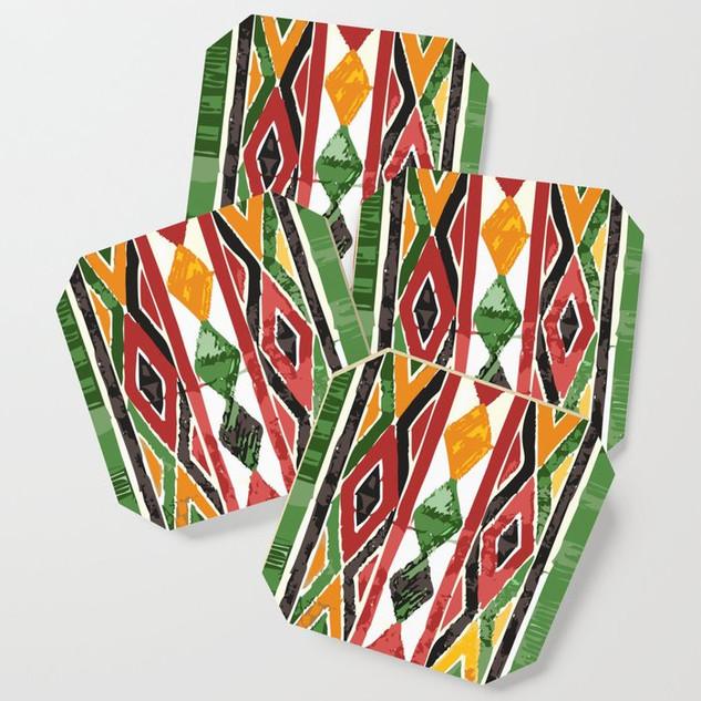 Festive Mexican Print Coaster Set