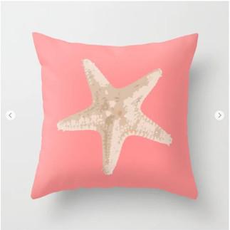 Beach Starfish Throw Pillow