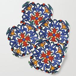 Talavera Bright Blue & Red Pattern