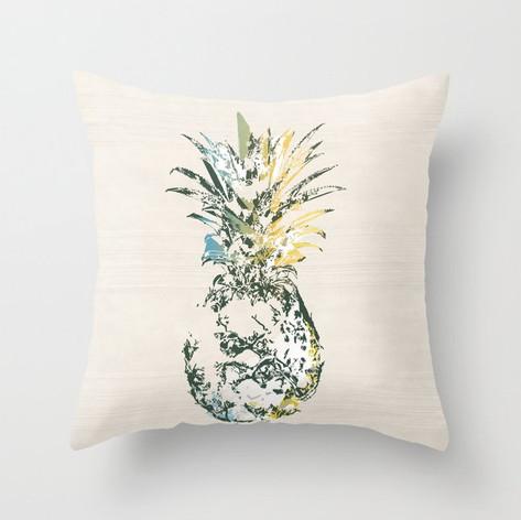 Artful Pineapple Dark Green/Gold