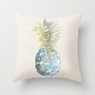 Artful Pineapple Turquoise/Gold