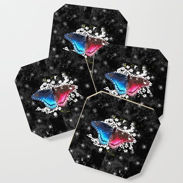 Retro Black Butterfly Design