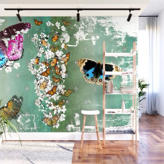 Vintage Butterfly 1 Wall Mural