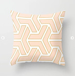 Sophisticated Peach & Gold Design Throw Pillow