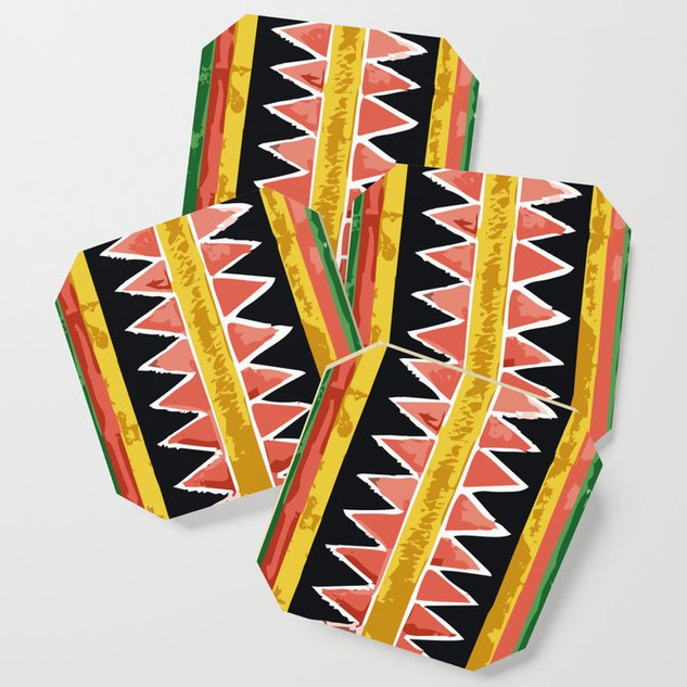 Bold Mexican Print Coaster Set