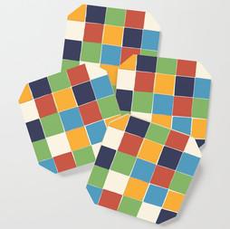 Talavera Artful Squares Coaster Set