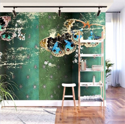 Vintage Butterfly 2 Wall Mural