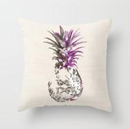 Artful Pineapple Magenta/Taupe