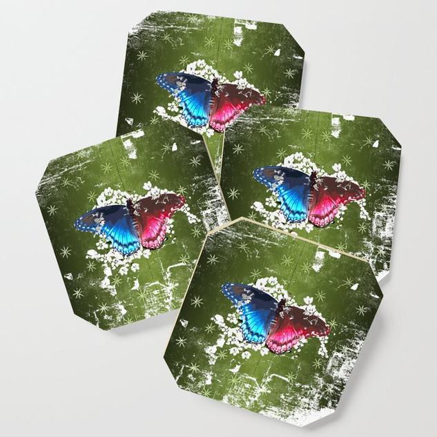 Retro Emerald Butterfly Design