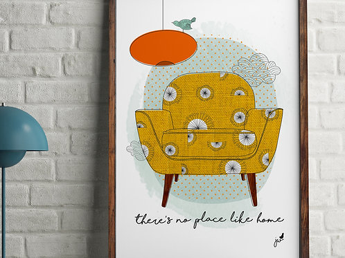 There's no place like home illustration
