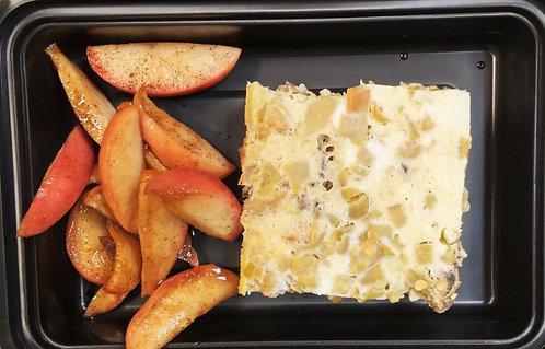 Chile Relleno Breakfast Casserole & Cinnamon Apples