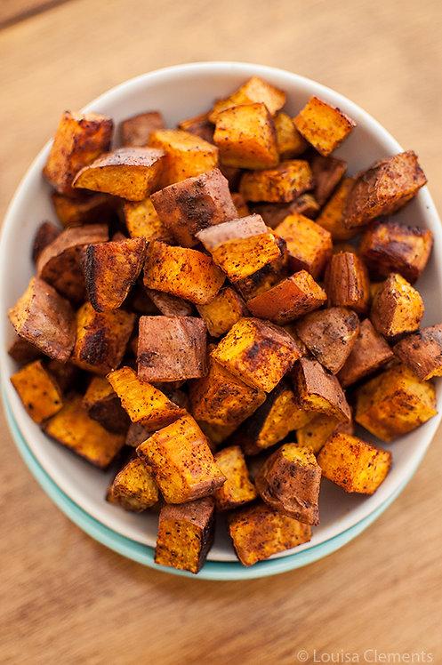 Roasted Cinnamon Paprika Sweet Potatoes