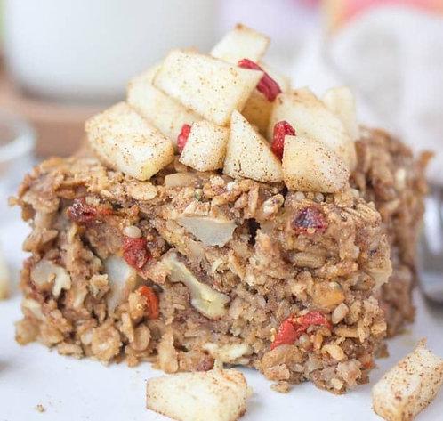 Apple Cinnamon Baked Oatmeal, Bacon