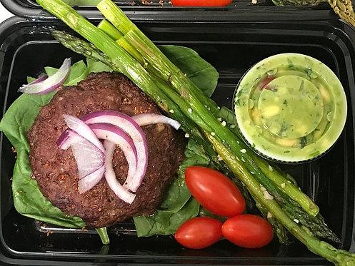 Guacamole Burger, Asparagus