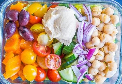 Greek Vegetable & Hummus Bowl