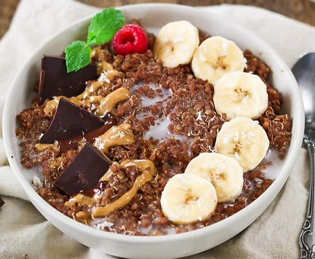 Chunky Monkey Breakfast Quinoa Bowl