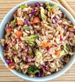 Chicken (or Tofu) Fried Rice with Vegetables