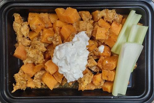 Cauliflower & Buffalo Chicken Casserole