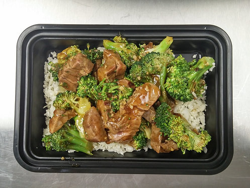 Beef-Broccoli Stir-Fry and Cauliflower Rice