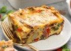 Chicken Fajita Breakfast Casserole & Sweet Potatoes