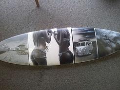 Surfbrett, Snowboard, Skateboard, Airbrush, Skater, Wanddeko