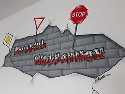 Wandbild, Wanddeko, Wandtattoo, Graffiti, Kinderzimmer, Wallpainting,Airbrush