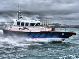 Safehaven Marine delivers an Interceptor 42 pilot boat to the port of Gijon in Spain.