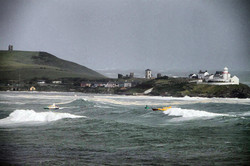 Roches Point in a storm