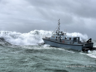 HMS Magpie, built by Safehaven Marine is commissioned into service with the Royal Navy at her naming