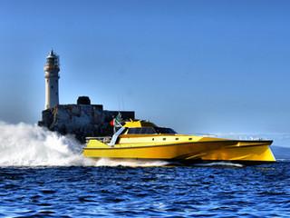 Safehaven Marine set World powerboat record for Cork - Fastnet Rock – Cork averaging 44.6kts in Thun