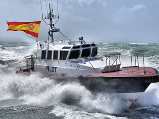 Safehaven Marine deliver an Interceptor 42 pilot boat to the port of San Ciprian in Northern Spain.