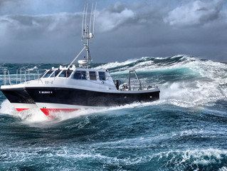 SAFEHAVEN MARINE LAUNCH NEW WILDCAT 40 SURVEY CATAMARAN THE 'T. BURKE II' FOR BOARD ISCAIGH MHARA, I