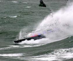 Pilot boat through wave 6