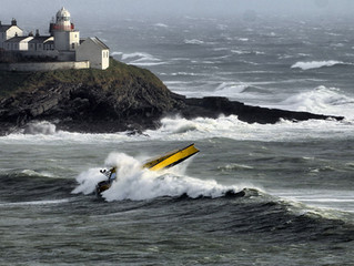SEA TRIALS IN STORMS AT THE ENTRANCE TO CORK HARBOUR
