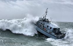 HMS Magpie in a big breaker