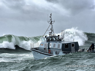 HMS Magpie is successfully launched and completes sea trials in Ireland.