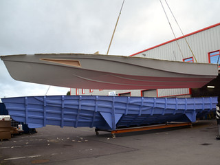 XSV 17, our new 60kts+ Wavepiercing Interceptor's first production hull has been built.