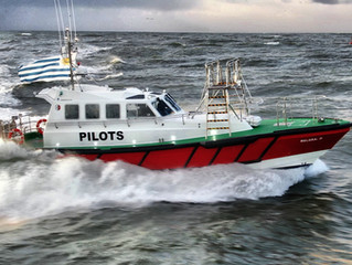 Safehaven  launch new Interceptor 48 'Belgrano' for the River Plate pilots in Montevideo, Uruguay.