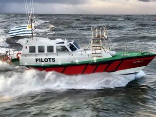 Safehaven  launch new Interceptor 48 'Belgrano' for the River Plate pilots in Montevideo, Uruguay.