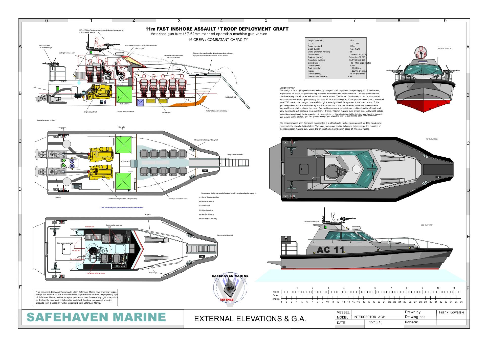 Barracuda, 11m Riverine assault