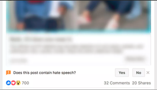 FACEBOOK Facebook Accidentally Asked Users If Every Single Post in Their Feed Contained Hate Speech