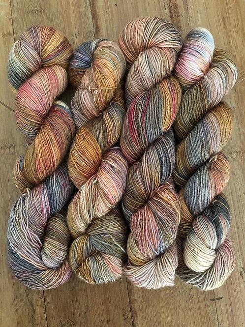 Ha'ena Point Sunset 70% SW Merino/30% Silk Sock