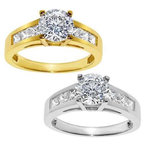14k Yellow or White Gold 1 1/2ct TGW Round-cut Diamonette Engagement Ring