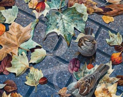 "2021 ANNUAL BIRDS IN ART - ""GENTLE RAIN"""