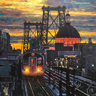 Williamsburg Bridge, View from Marcy Ave
